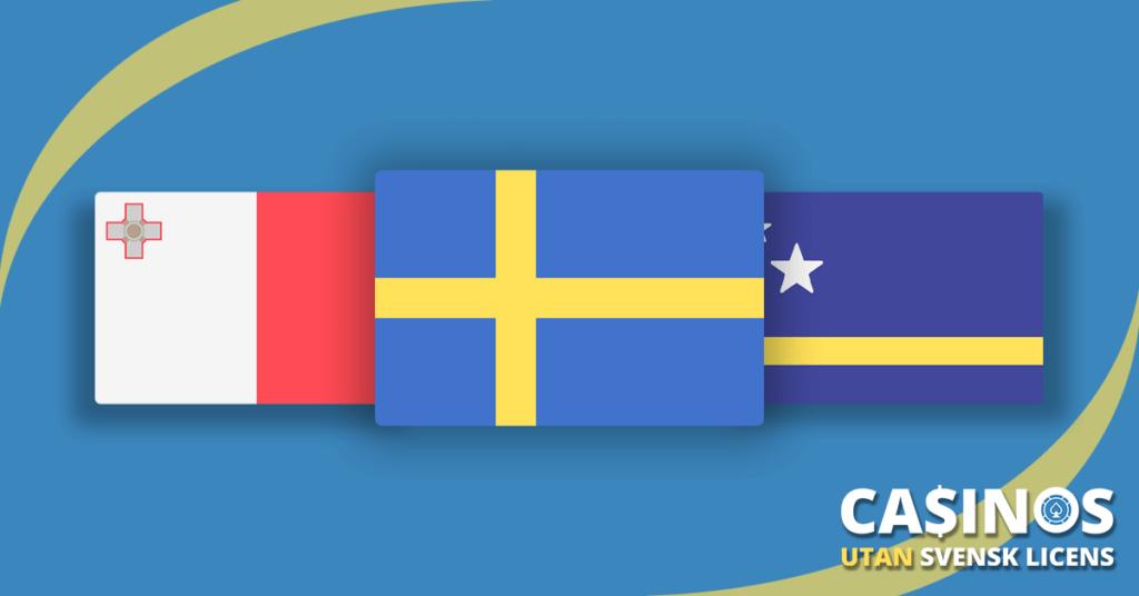 Spelsidor utan svensk licens