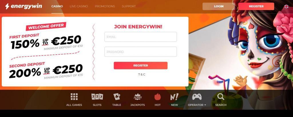 energywin casino layout