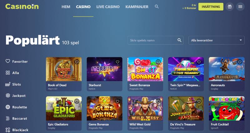 spela casinoin